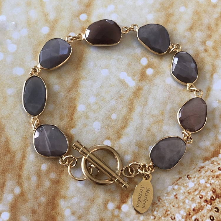 Brown choclate Moonstone armband